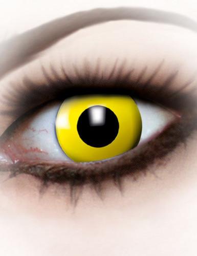 Lentes fantasia olho amarelo adulto