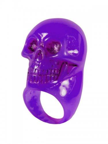 Anel violeta caveira