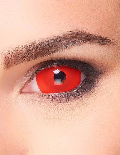 Lentes fantasia olho vermelho para adulto