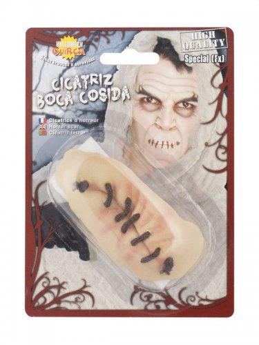 Boca cosida em látex para Halloween-1
