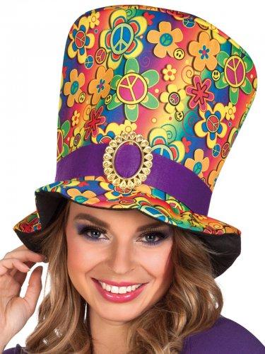 Chapéu alto colorido hippie adulto