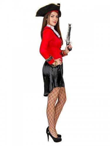 Disfarce pirata preto e vermelho - mulher-1