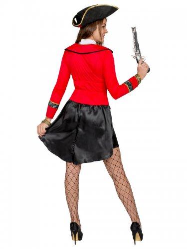 Disfarce pirata preto e vermelho - mulher-2