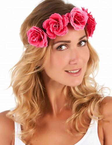 Coroa de flores rosas - mulher