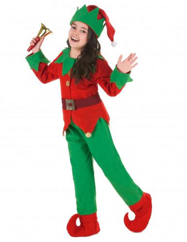 Disfarce completo Elfo de Natal criança-1