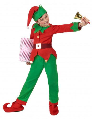 Disfarce completo Elfo de Natal criança-2