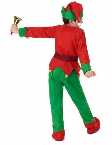 Disfarce completo Elfo de Natal criança-3