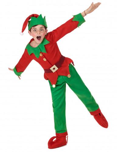Disfarce completo Elfo de Natal criança-4