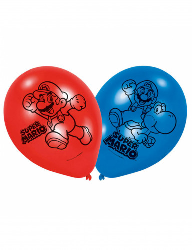 6 Balões látex Super Mario™