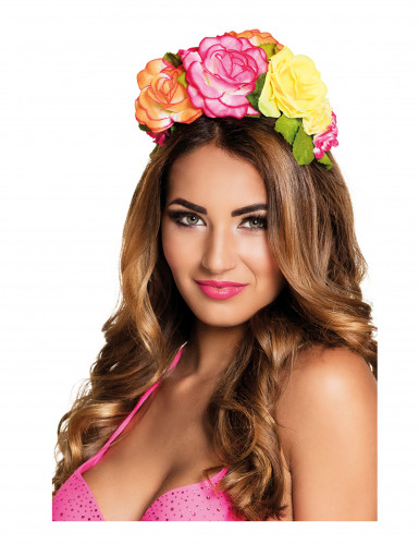 Bandolete de flores coloridas mulher