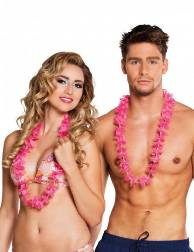 25 Colares Havaianos cor-de-rosa