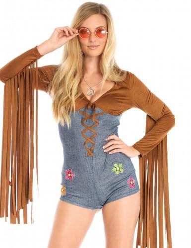 Disfarce miss hippie sexy mulher