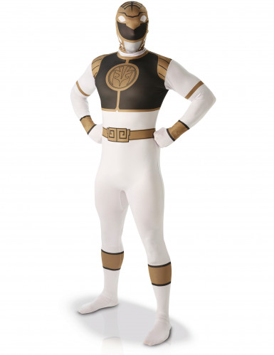 Disfarce segunda pele Power Rangers™ Branco homem
