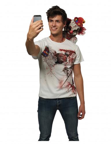 T-shirt Seçfie palhaço assustador adulto