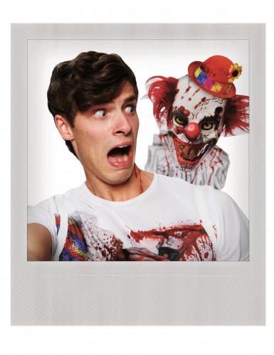 T-shirt Seçfie palhaço assustador adulto-1