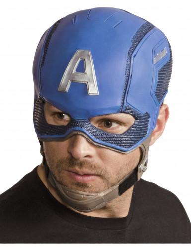Capacete de látex Captain America™ Avengers™ adulto