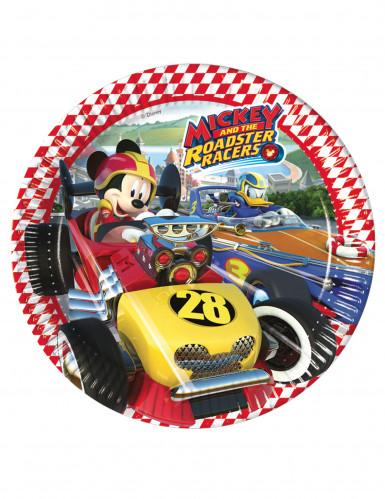 8 Pratos de cartão Mickey Racing™