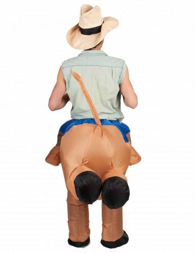 Disfarce campião de rodeio insuflável adulto-2