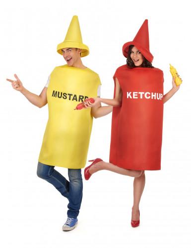 Disfarce de casal mustarda e ketchup