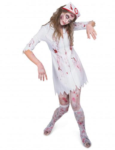 Disfarce enfermeira zombie mulher