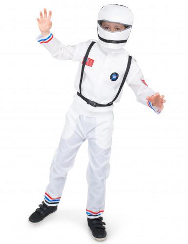 Disfarce astronauta no espaço criança