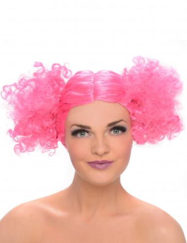 Peruca puxos cor-de-rosa mulher