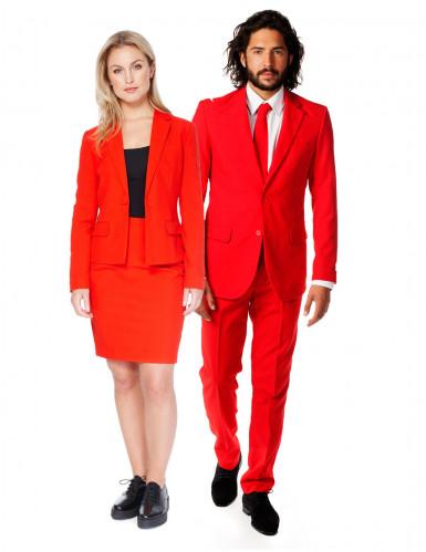 Disfarce de casal Opposuits™ vermelho