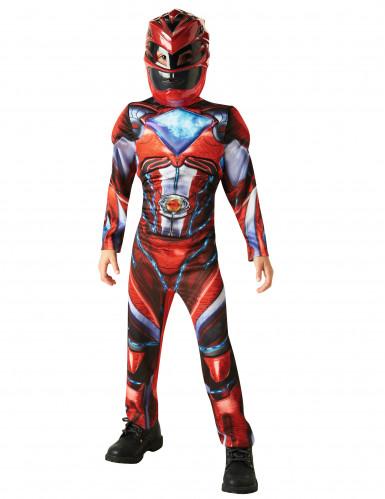 Disfarce luxo Power Rangers™ vermelho criança - Filme-1