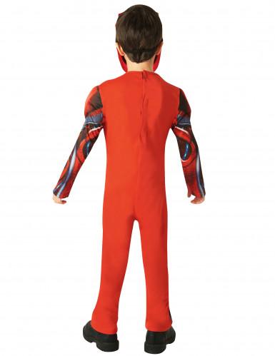 Disfarce luxo Power Rangers™ vermelho criança - Filme-2