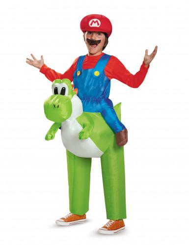 Disfarce insuflável Mario as costas de Yoshi Nintendo® criança
