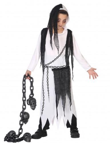 Disfarce senhora da morte fantasma menino Halloween