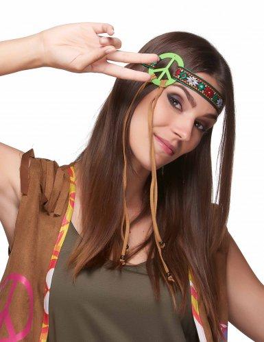 Bandana verde hippie da paz - adulto-1