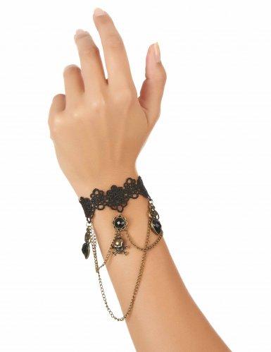 Bracelete preto jóias para as mãos!-1