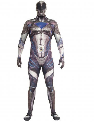 Disfarce macacão preto Power Rangers™ deluxo adulto Morphsuits™
