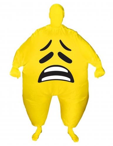 Disfarce insuflável cara triste adulto Morphsuits™