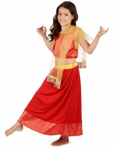 Disfarce Princesa Dançarina Bollywood menina-1