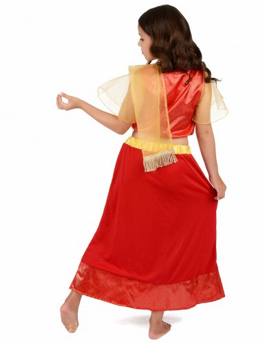 Disfarce Princesa Dançarina Bollywood menina-2