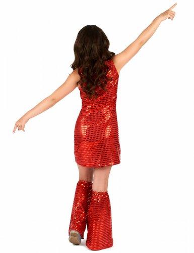 Disfarce Disco vermelho com lantejoulas menina-2