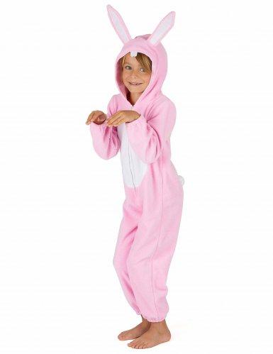 Disfarce de Coelho cor-de-rosa criança-3