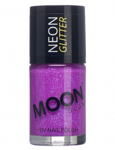 Verniz lilás fosforescente com brilhantes 15 ml Moonglow © adulto