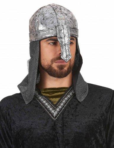 Capacete cavaleiro guerreiro macio - adulto-1