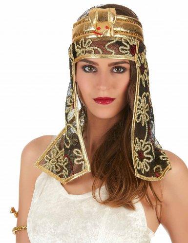 Turbante egípcio dorado e preto - mulher-1