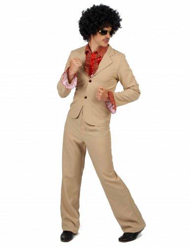 Disfarce Disco bege com frufrus Homem