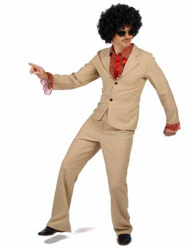 Disfarce Disco bege com frufrus Homem-1