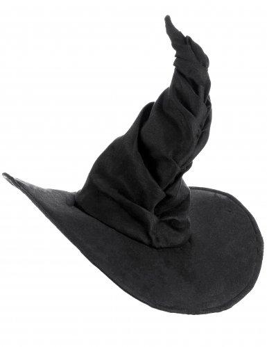 Chapéu feiticeira aveludado preto - adulto