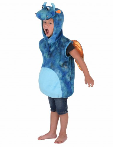 Disfarce dragão azul criança-1