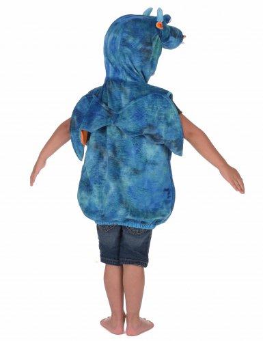 Disfarce dragão azul criança-2