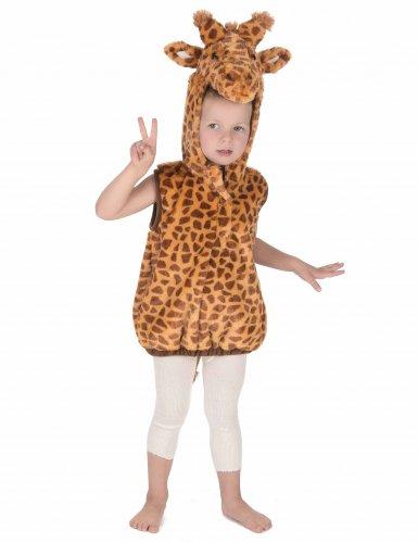 Disfarce girafa sem mangas criança-4