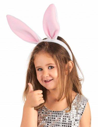 Tiara orelhas rosas de coelho - criança-1
