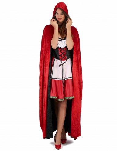 Capa vampiro veludo vermelha e preta reversível criança-1